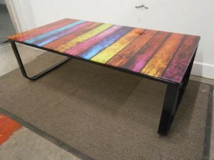 Multi Coloured Coffee Table X1