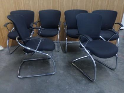 konig neurath diva chrome black boardroom chair x6. Black Bedroom Furniture Sets. Home Design Ideas