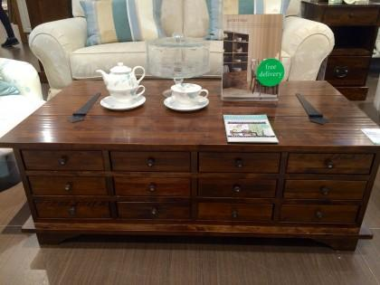 Laura ashley walnut garrett coffee table for Coffee tables laura ashley