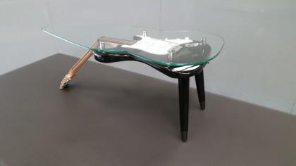 electric guitar coffee table x 1