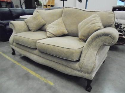 Ornate Fabric Sofa X1