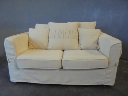 2 Seater Fabric Sofa Bed X 1