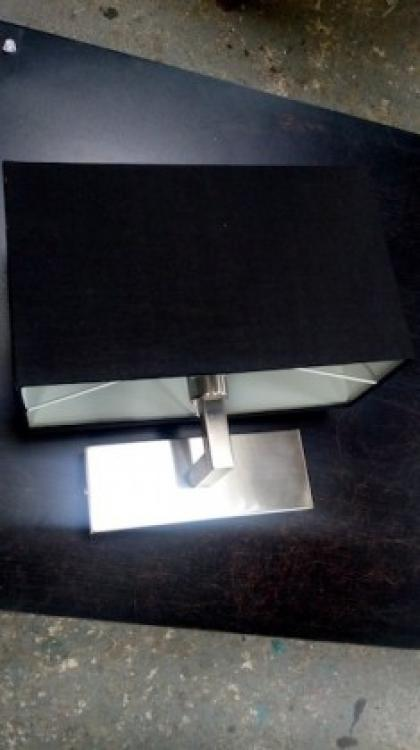 Wollstone Black Fabric Shade Wall Light x17