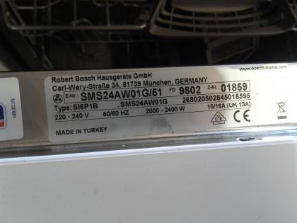 Bosch 12 Place Setting White Dishwasher Sms24aw01g X1