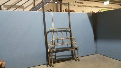 3 0ft Brass Single Bed With Cast Iron Frame With Fabricated Timber