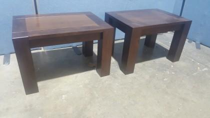 Solid Dark Wood Side Table X1 No Reserve