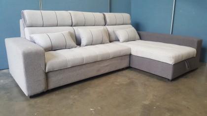 L-Shaped Corner Sofa Bed - Fabric x1